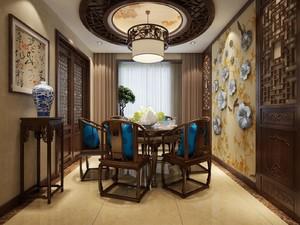 新中式客餐厅吊顶装修效果图大全