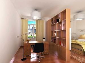 主卧书房一体隔断装修效果图欣赏