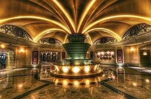 歐式奢華酒店大堂地磚吊頂裝修設計效果圖