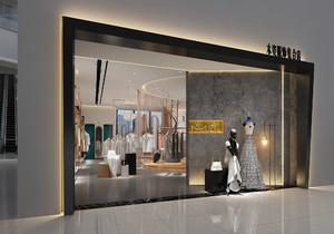 歐式服裝店門面設計效果圖,服裝店門面里面裝修效果圖