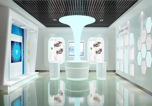 装修公司展厅设计效果图,装修公司主材展厅大厅效果图