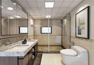 小卫生间干湿分区效果图,欧式干湿分区卫生间装修效果图