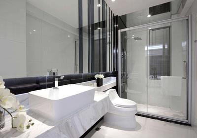 灰色卫生间墙砖地砖效果图,卫生间灰色地砖效果图