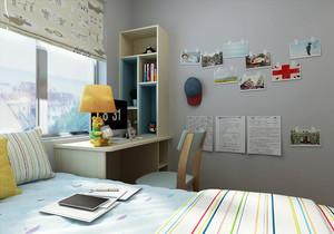 小面积儿童房设计装修效果图,小面积儿童房高低床装修效果图