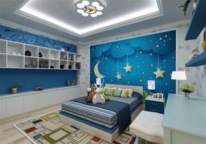 男孩儿童房上下床装修效果图,7平米儿童房上下床装修效果图