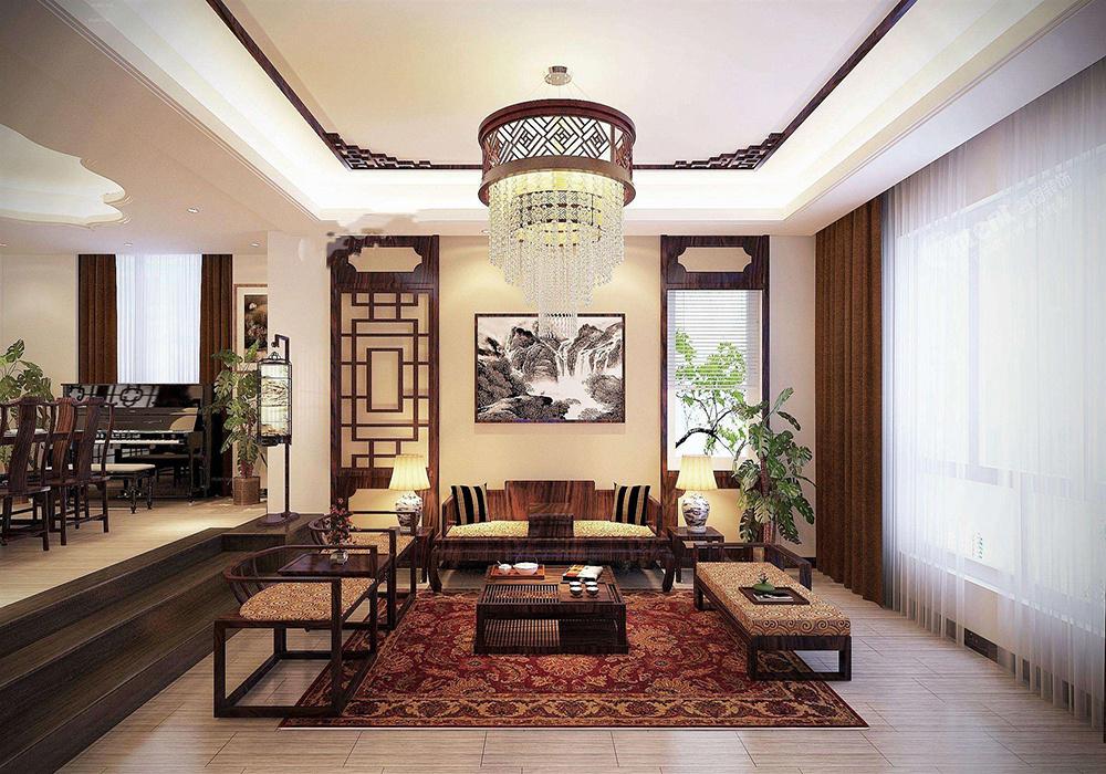 豪华中式装修客厅效果图,超豪华中式别墅客厅装修效果图