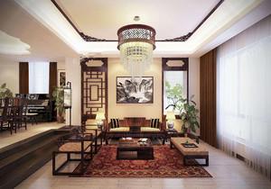 豪華中式裝修客廳效果圖,超豪華中式別墅客廳裝修效果圖