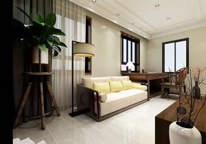 新中式簡約客廳電視墻裝修效果圖大全