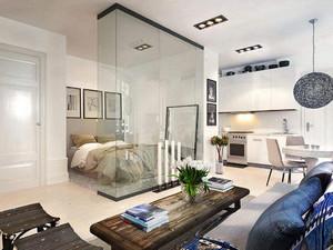 客厅改儿童一半卧室效果图,长方形客厅改一半卧室效果图