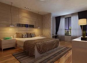 2015现代都市宜家风格卧室背景墙效果图