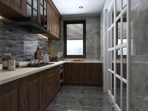 新中式廚房風格效果圖大全,新中式風格敞開式廚房裝修效果圖大全