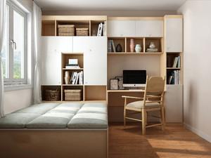 书房榻榻米衣柜一体效果图,榻榻米书房餐厅一体效果图欣赏
