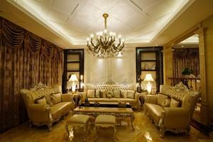 奢华欧式客厅装修效果图,欧式奢华风格装修效果图