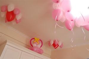 新人婚房气球装饰图片