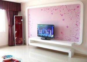 客厅硅藻泥电视背景墙图片