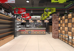 奶茶小吃店面裝修效果圖,40平方小吃店面裝修效果圖