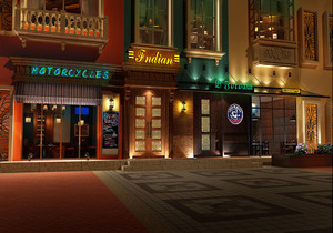 酒吧門面和招牌設計效果圖,門面門頭招牌設計效果圖