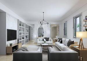 90平米三室一厅北欧装修效果图,三室一厅一卫90平米装修效果图大全