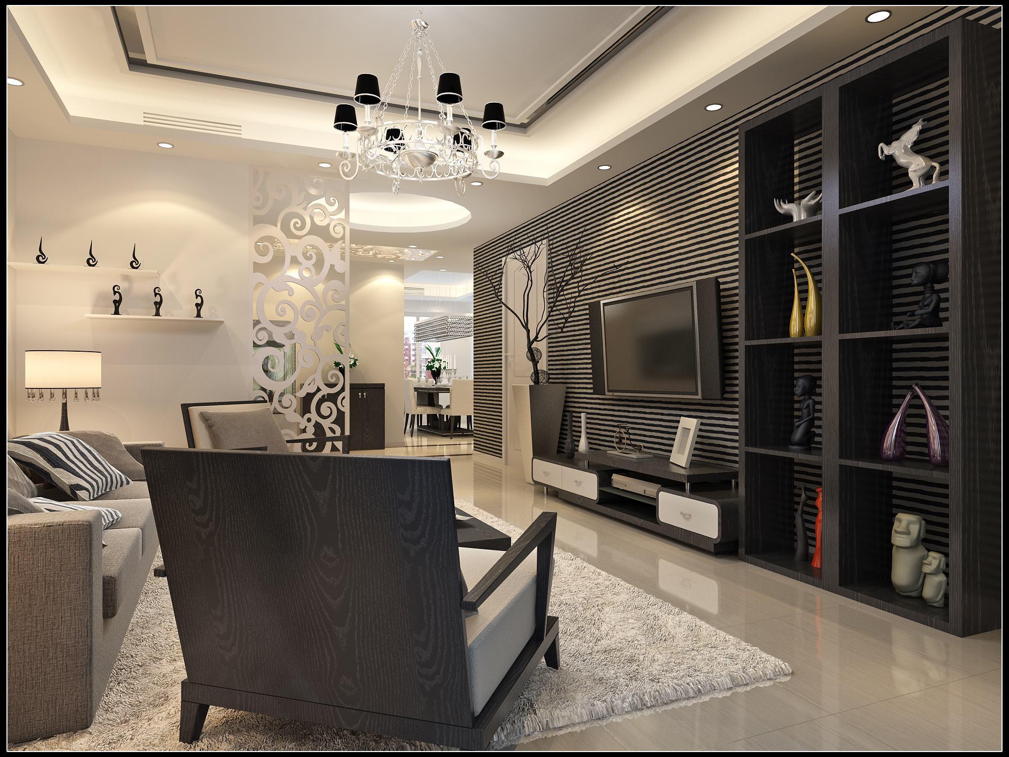 客厅与餐厅电视隔断装修效果图欣赏,客厅和餐厅电视隔断装修效果图欣赏