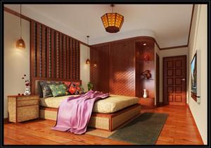 东南亚卧室装修风格效果图,现代东南亚风格装修效果图