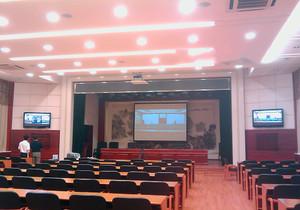 大型多功能会议室装修效果图,多功能视频会议室效果图