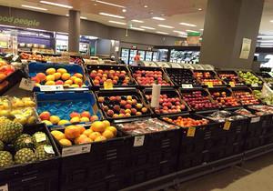 水果店两层平面图,蔬菜水果店装修平面图