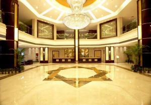 集成墻板賓館大廳裝修效果圖,賓館大廳磁磚背景墻裝修效果圖