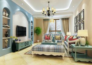 二手房70平米装修效果图,客厅在中间的二手房装修效果图