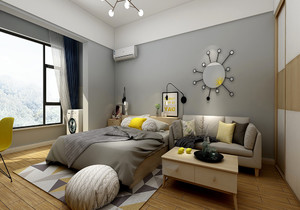 北欧简约卧室风格装修效果图,北欧简约壁纸卧室装修效果图大全