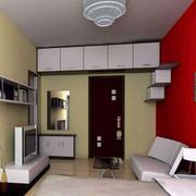 客廳現代局部80平米裝修