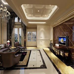 新中式别墅装修效果图,别墅电视墙装修效果图大全