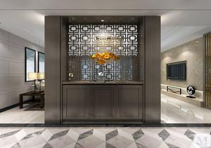 进门玄关新中式装修效果图,新中式进门玄关墙设计效果图大全