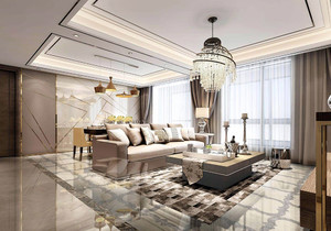 客厅装修大理石地板效果图,中式装修大理石地板装修效果图