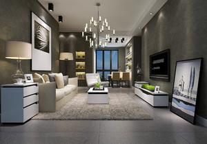 沙发茶几电视柜搭配效果图,客厅沙发茶几电视柜搭配效果图