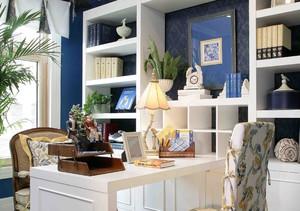 阳台书桌书柜组合效果图,阳台书桌带书柜效果图