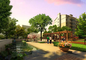 工厂园林绿化设计效果图,工厂围墙绿化效果图大全