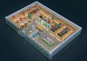 水果店室内平面图,水果店布局设计平面图