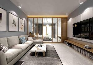 45平米单身公寓足彩导航效果图,45平米小户型公寓整体足彩导航效果图