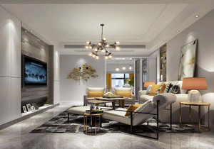 天津90平米两室一厅装修效果图,90平米两室一厅现代装修效果图