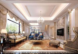 90平米小户型装修欧式装修效果图,90平米客厅吊顶欧式装修效果图