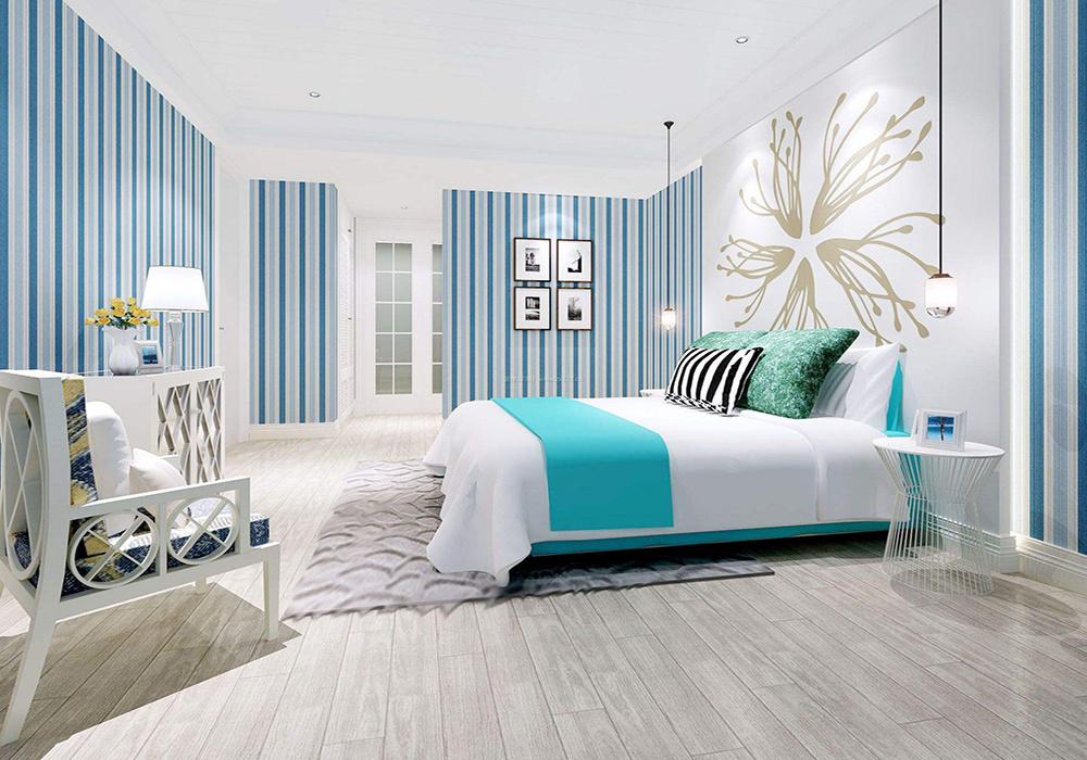 卧室床头柜装修效果图,卧室只放1个床头柜装修效果图