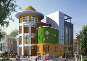 幼儿园建筑立面效果图,幼儿园建筑外观效果图图集