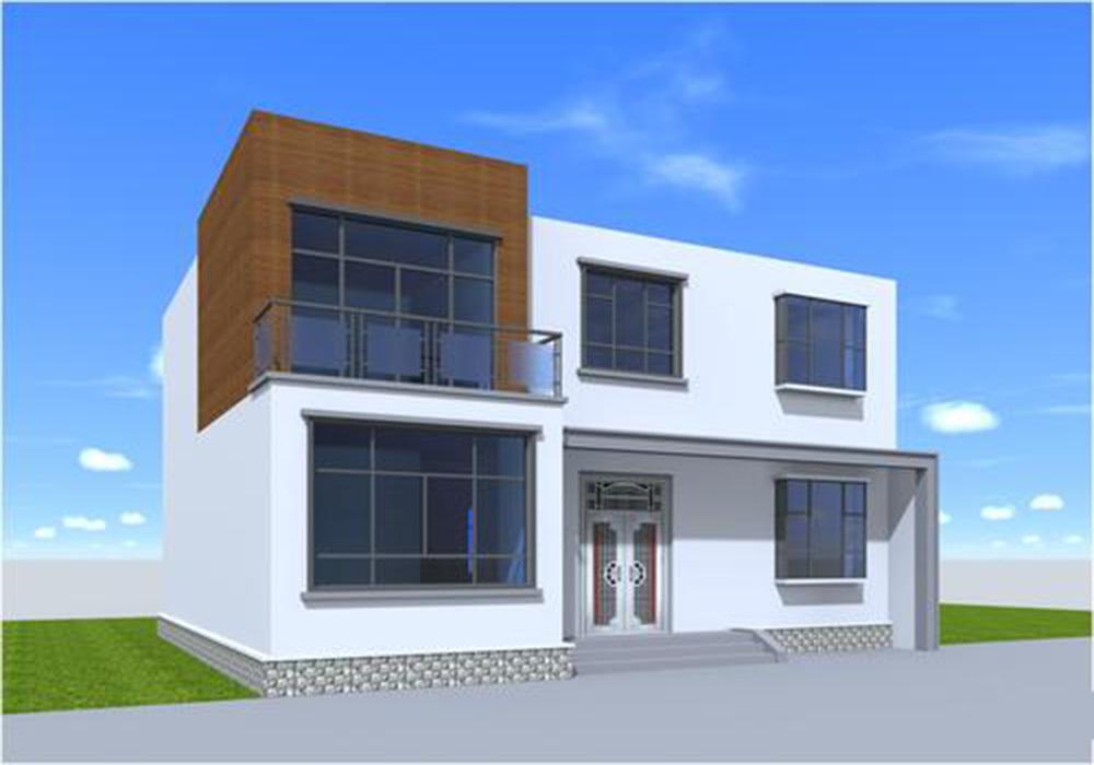 农村两间两层小别墅效果图大全,中式农村两层小别墅外观效果图