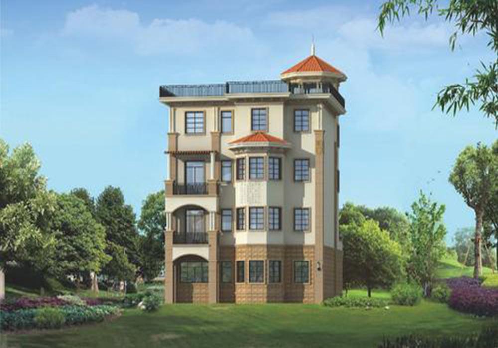 农村别墅设计图160平米,160平米四层别墅设计图