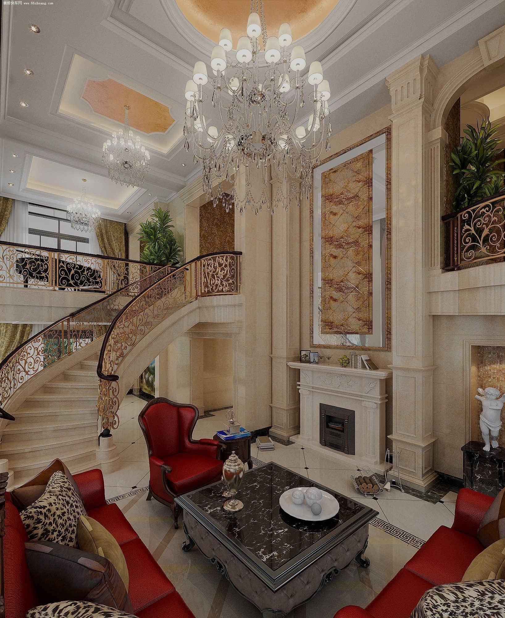 欧式别墅地板装修效果图欣赏,别墅客厅地板砖装修效果图大全