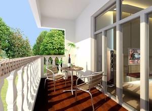 小户型客厅阳台一体效果图2019款,阳台客厅一体效果图小户型