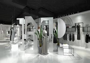 高檔服裝店門面設計效果圖,服裝店門面裝飾效果圖