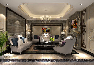 客厅地板大理石瓷砖装修效果图大全,黑色大理石地板砖装修效果图大全