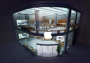 苹果专卖店店面布置图,苹果专卖店设计效果图