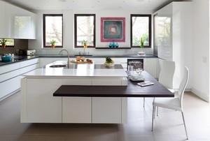 美式开放式厨房吧台装修效果图,开放式厨房小吧台装修效果图